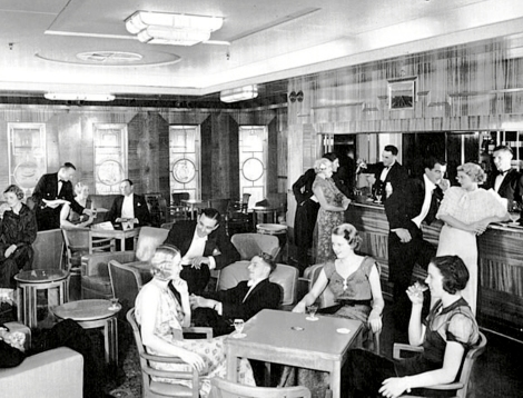 cruise ship cocktail lounge 1930ies