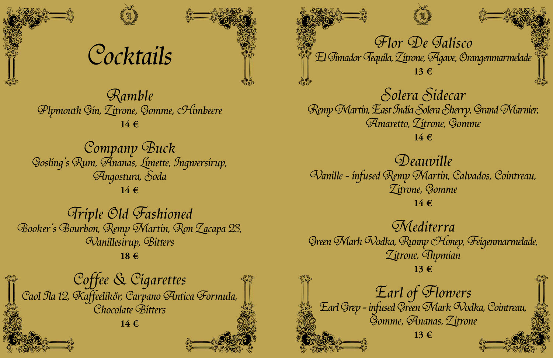 Cocktail Karte.November Cocktail Karte 2015 Web Logenhaus Bar