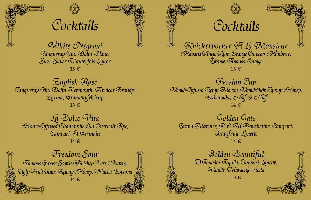 Cocktailkarte Selbst Gestalten.Cocktail Karte